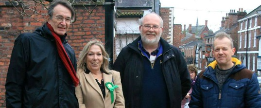 Walter, John and Nigel with Tatton Parliamentary Candidate, Tina Louise Rotheray